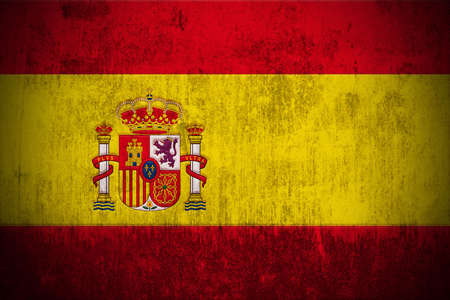 Weathered Flag Of Spain, fabric textured
