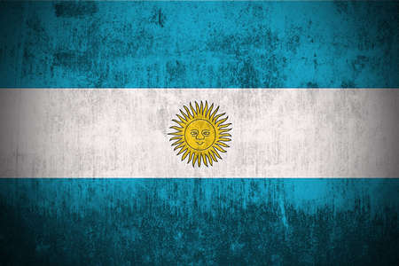 Weathered Flag Of Argentina, fabric textured