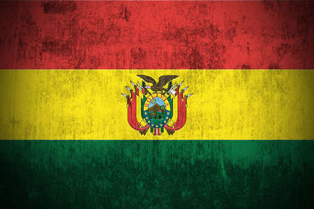 Weathered Flag Of Republic of Bolivia, fabric textured Stock Photo - 3440804