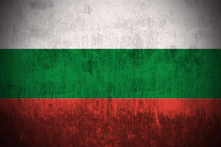 bulgarian: Weathered Flag Of Bulgaria, fabric textured   Stock Photo