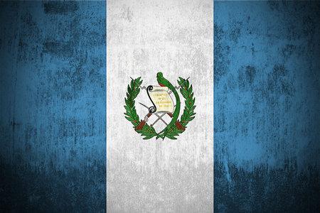 Weathered Flag Of Guatemala, fabric textured