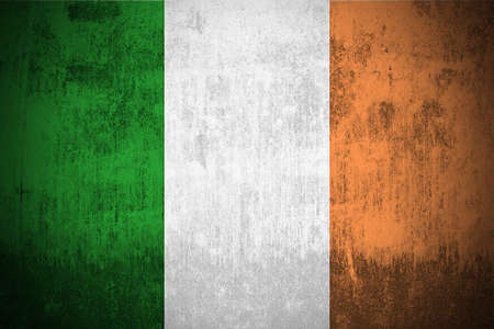 Weathered Flag Of Ireland, fabric textured Stock Photo - 3467894