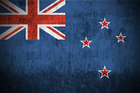 Weathered Flag Of New Zealand, fabric textured
