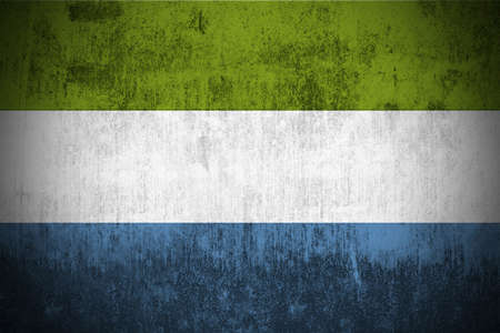 Weathered Flag Of Sierra Leone, fabric textured photo