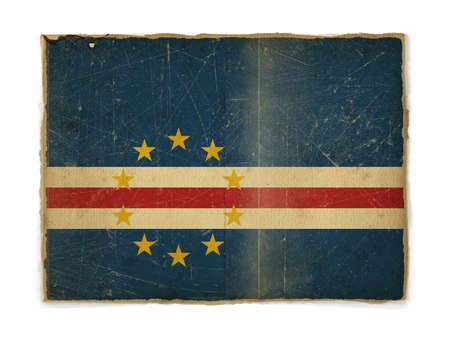 cape verde: weathered flag of Cape Verde, paper textured