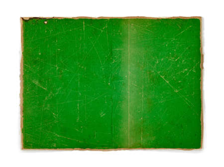 weathered flag of Libya, paper textured photo