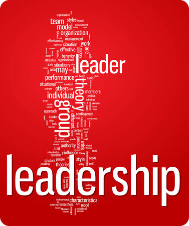leadership word cloud illustration. Graphic tag collection Stock Vector - 6357724