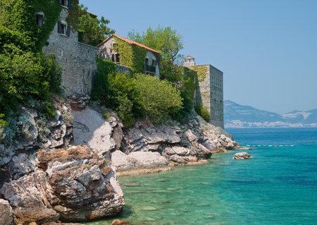 sveti: Sveti Stefan resort island-hotel in Montenegro Stock Photo