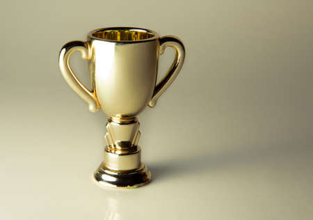 Golden cup award - real object not a 3D render