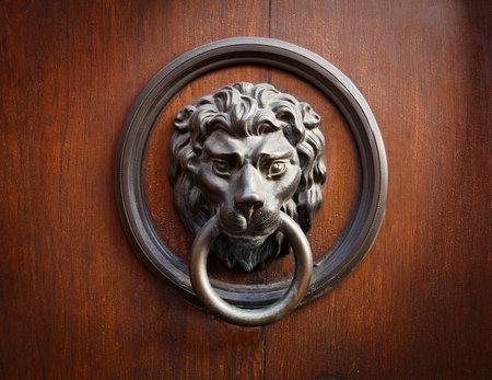 Doorknocker with head of lion  photo