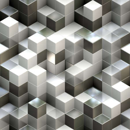 Abstract seamless cube background photo
