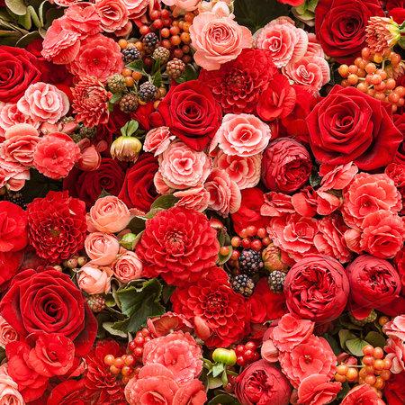 arreglo floral: Resumen de antecedentes de flores Primer plano