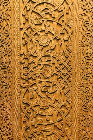 Wood ornament pattern  Handmade wood carvings Stock Photo - 15588598