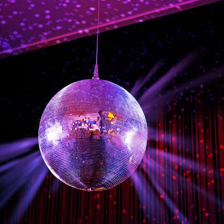 fiestas electronicas: Luces del partido bola de discoteca