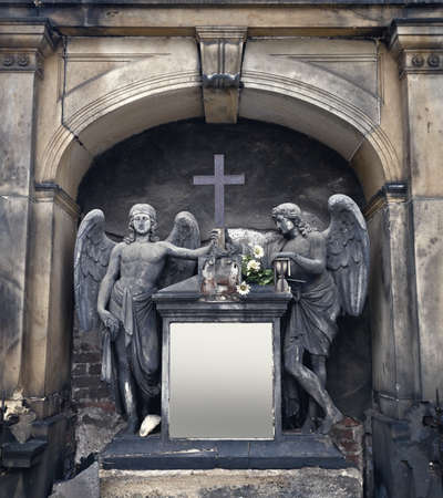 statuary: Ornate cemetery angel statuary