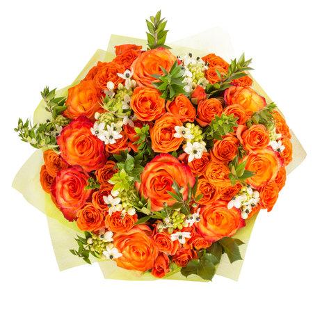 schöne bunte frische Blumen-Bouquet auf weißem Hintergrund isoliert