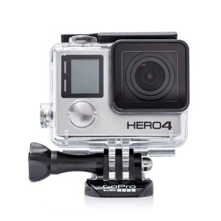 モスクワ, ロシア-2015 年 6 月 29 日: GoPro ヒーロー 4 ブラックエディション GoPro Inc.pro によって白い background.manufactured の分離