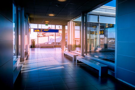 Hallway in Building with glass - flare effect Foto de archivo