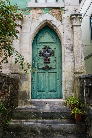 Old door in the city of Lisbon, Portugal Reklamní fotografie