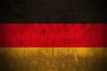 Verwitterten Fahne von Deutschland, Stoff texturierten  Standard-Bild - 45480473