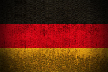 Weathered Flag Of Germany, fabric textured