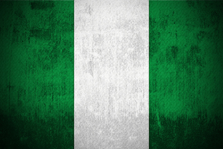 Weathered Flag Of Nigeria, fabric textured