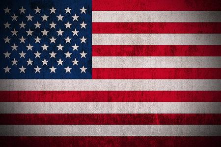 Durchstanden Sie Flag der USA, Fabric texturiert Standard-Bild - 45833809