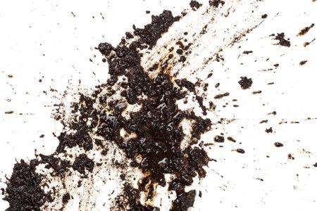Motif boue de floc isolé sur un fond blanc. Banque d'images - 47438848