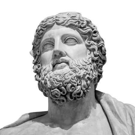 The ancient marble portrait bust. Banque d'images