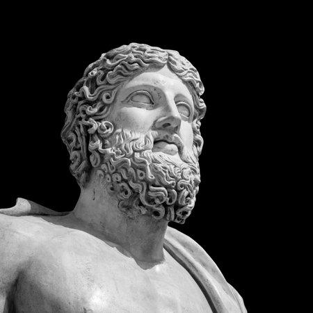 The ancient marble portrait bust. Archivio Fotografico