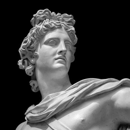 아폴로 벨 비 데어 동상입니다. 세부 바티칸 박물관 스톡 콘텐츠