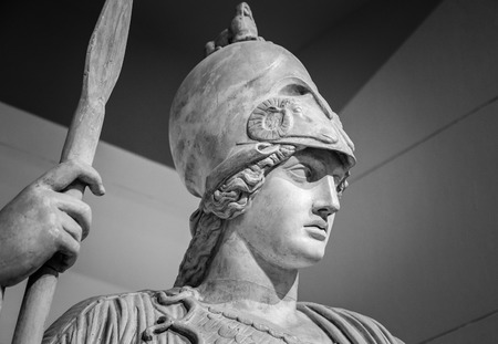 Athena the ancient Greek goddess of wisdom and science