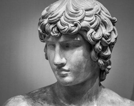 The ancient marble portrait.