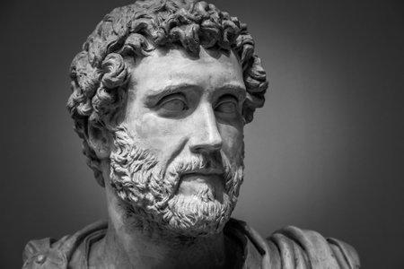 Retrato del emperador romano Antonino Pío.