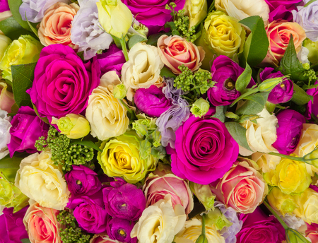 Bunch of flowers background texture