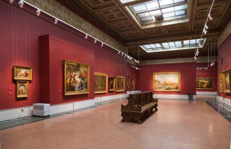모스크바, 러시아 - 년 2 월 16, 2016 예술의 푸쉬킨 박물관, 모스크바, 러시아에서 유럽 미술의 가장 큰 박물관입니다.