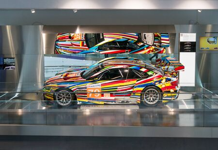 Munich, Germany - March 10, 2016: BMW Museum.