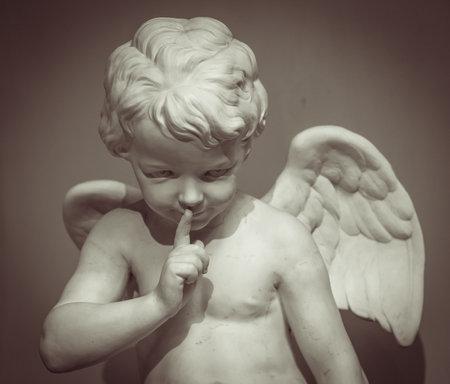 Beautiful marble statue of angel. Archivio Fotografico
