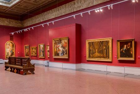 Moscou, Russie - le 16 Février, 2016: Pouchkine Musée des Beaux-Arts est le plus grand musée d'art européen à Moscou, Russie.