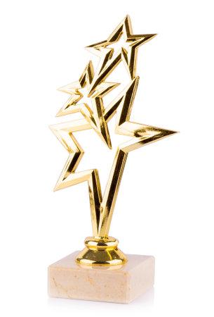 stars awards isolated on white background. Stock Photo