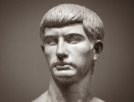 Marble sculpture of Marcus Junius Brutus.