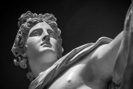 Apollo Belvedere head of statue Reklamní fotografie