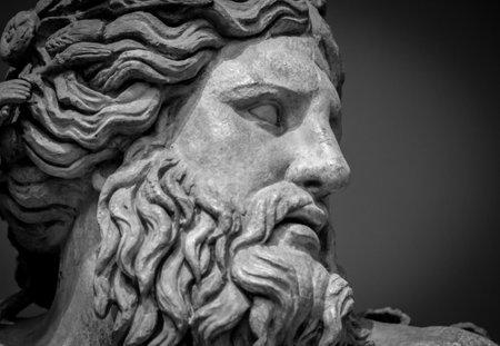 나일 강 신의 고대 흉상 스톡 콘텐츠