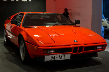 Munich, Germany - March 10, 2016: collection of classical cars on display in BMW Museum Standard-Bild - 90352709