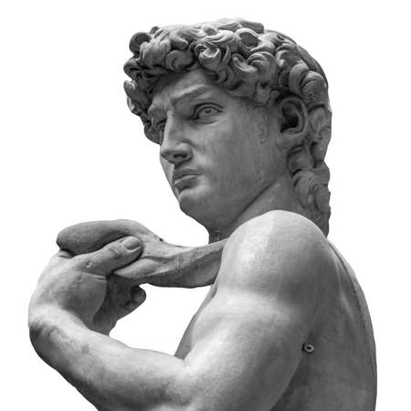 Statue of a famous statue by Michelangelo - David from Florence, isolated on white Reklamní fotografie