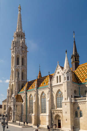 Budapest, Hungary - March 22, 2018: St. Matthias Church in Budapest. One of the main temple in Hungary Editorial