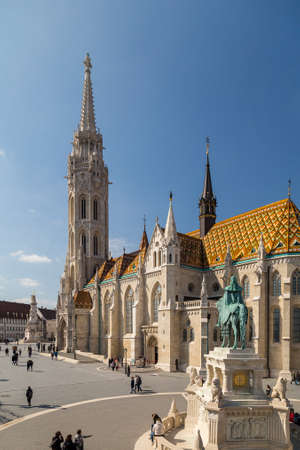 Budapest, Hungary - March 22, 2018: St. Matthias Church in Budapest. One of the main temple in Hungary Sajtókép