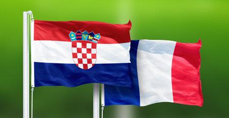 Croatia - France,   National Flags