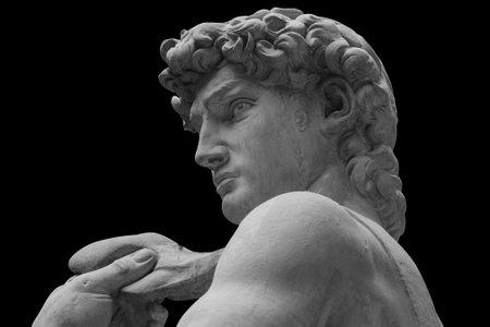 La statua del David dell'artista italiano Michelangelo Archivio Fotografico