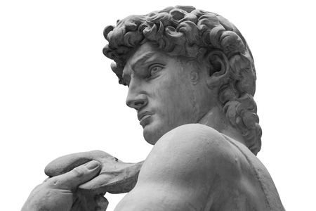 The statue of David by italian artist Michelangelo Stock Photo
